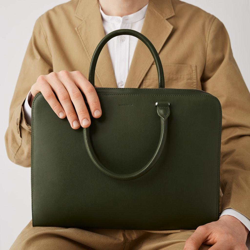 Sandqvist - Briefcase - Green - MYRTEL 2