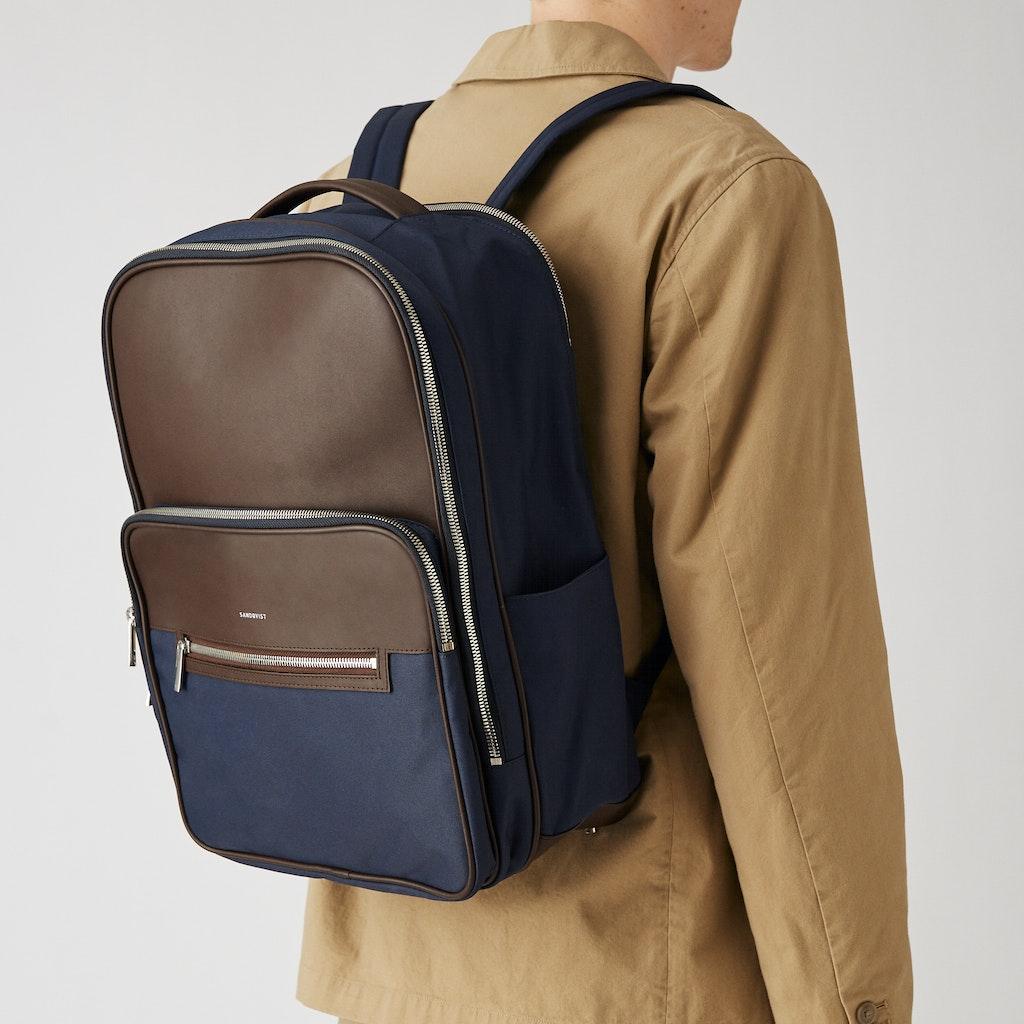 Sandqvist - Backpack - Navy - FOLKE 4