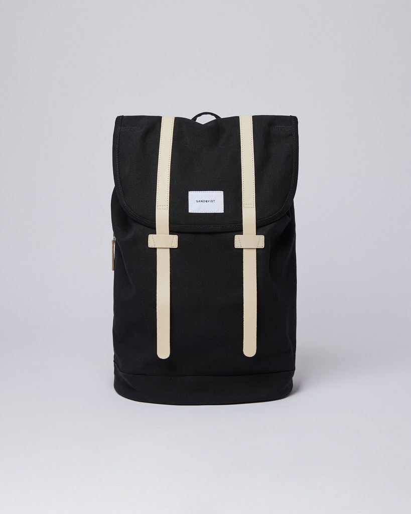 Sandqvist - Backpack - Beige and Black - STIG LARGE
