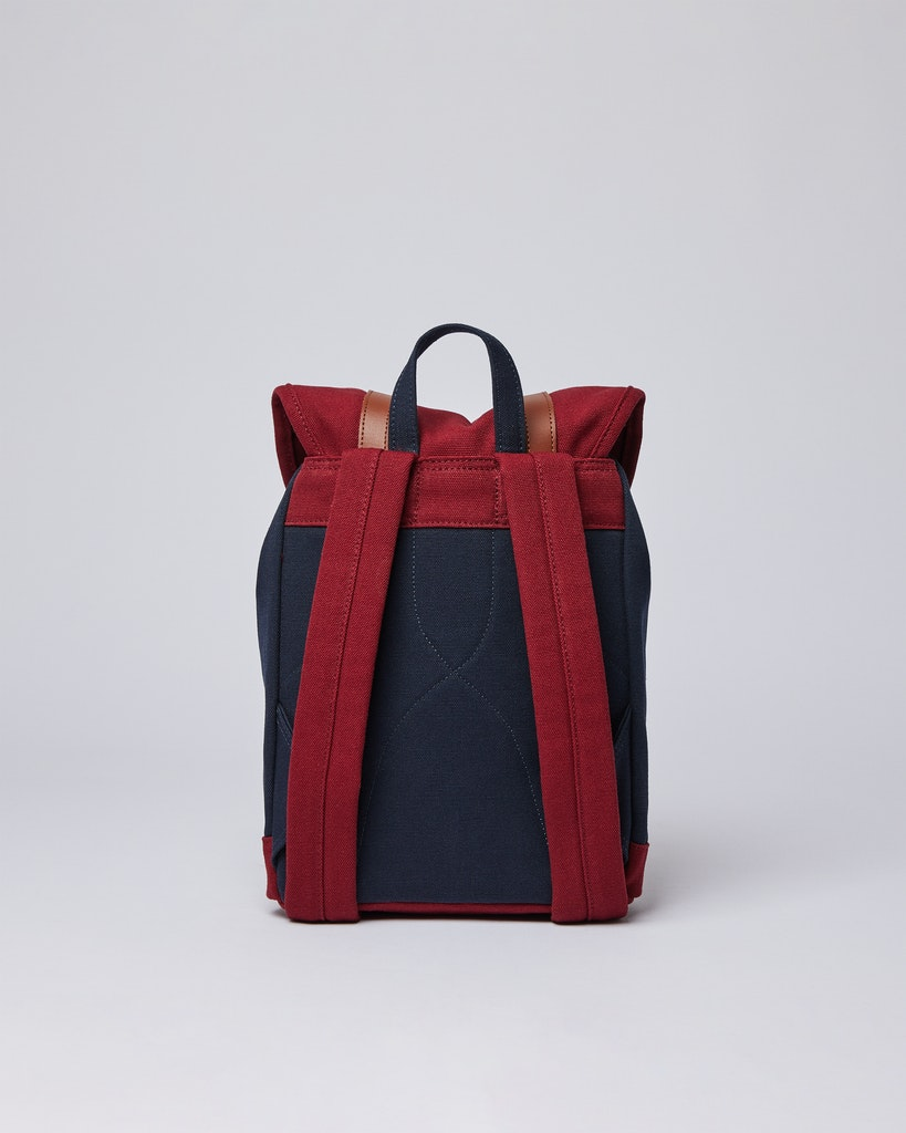 Sandqvist - Backpack - Navy and Red - STIG SMALL 1