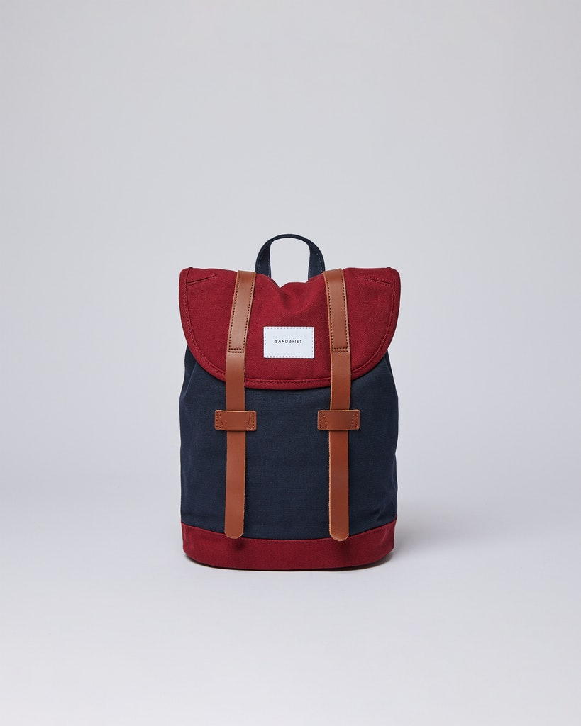 Sandqvist - Backpack - Navy and Red - STIG SMALL