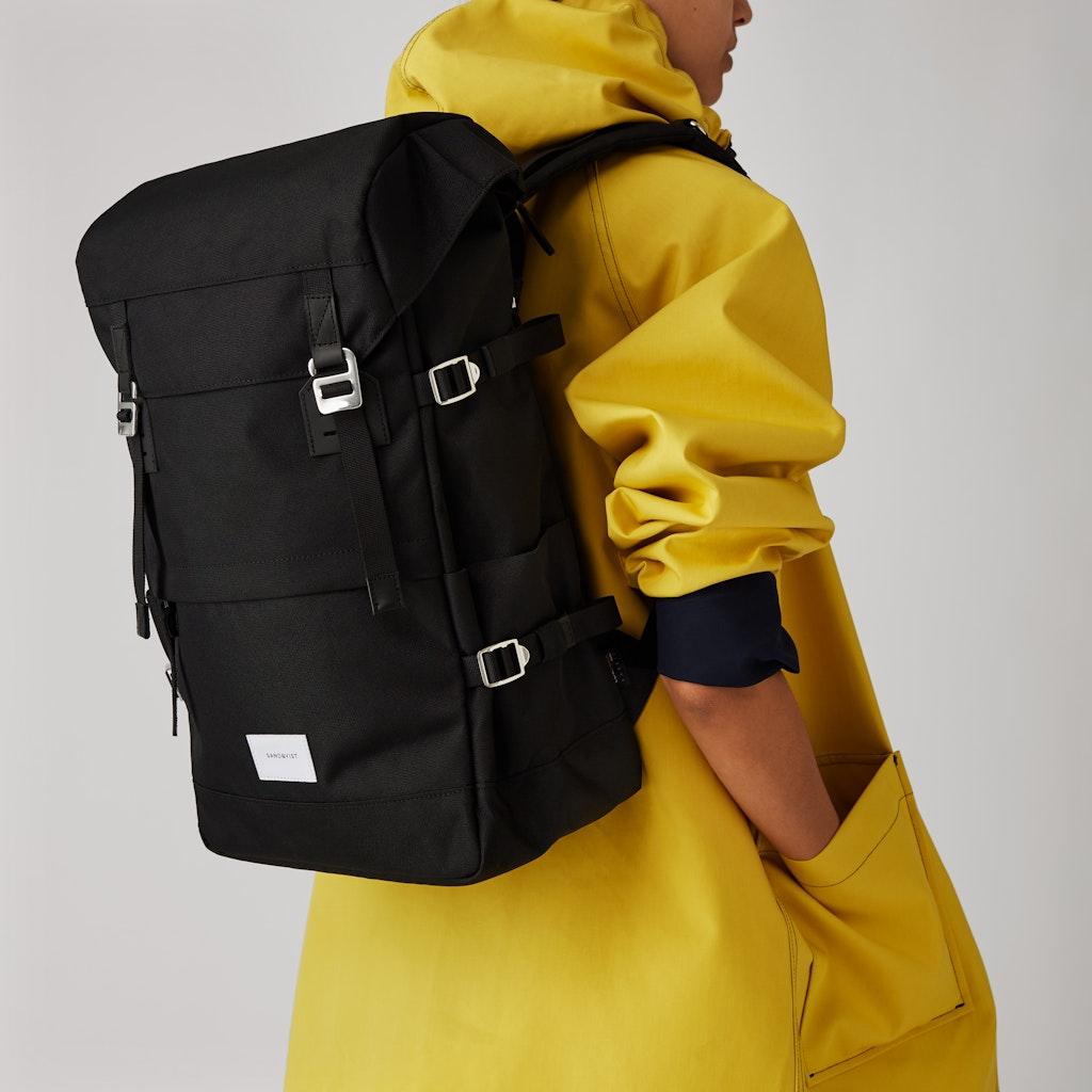 Sandqvist - Backpack - Black - HARALD 2