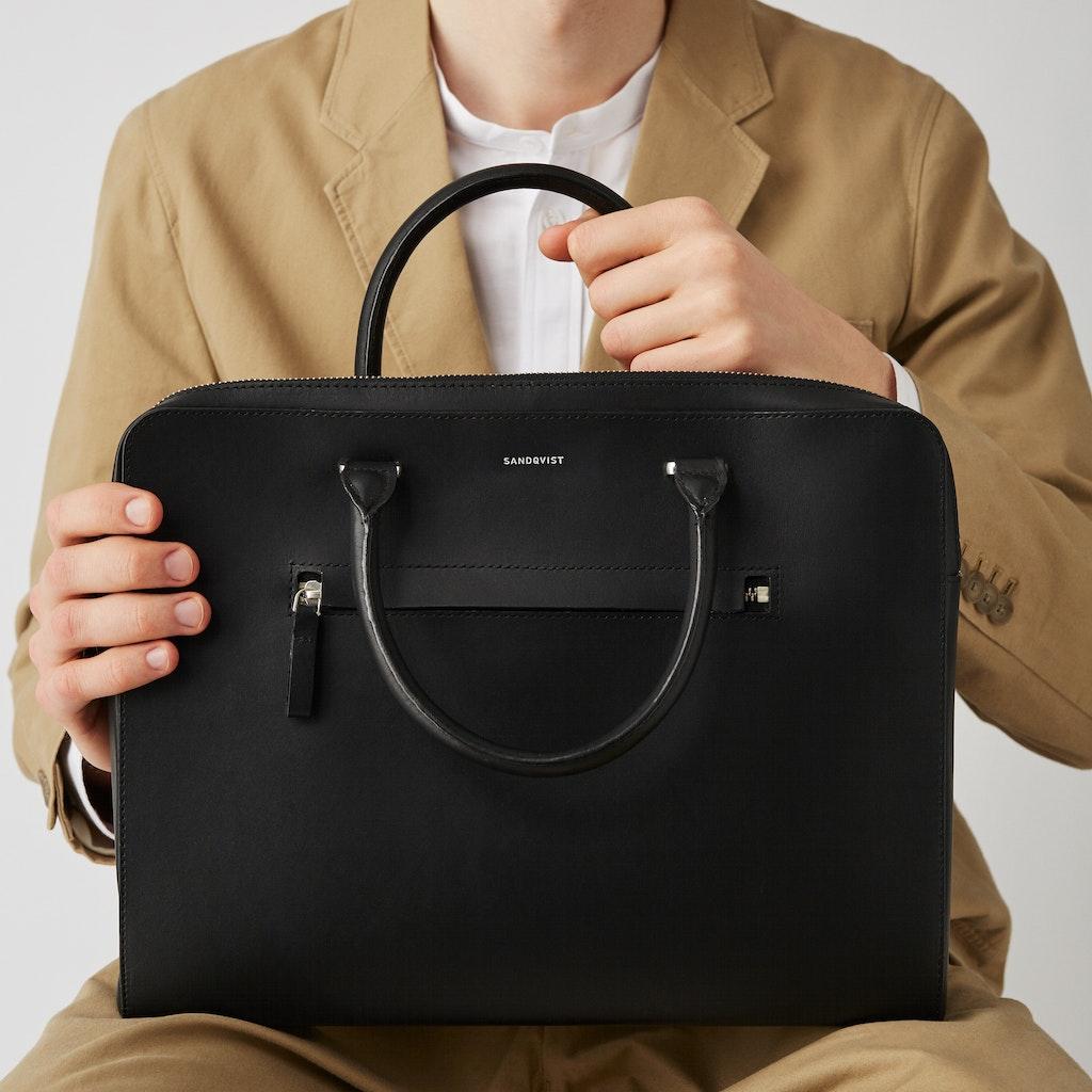 Sandqvist - Briefcase - Black - LESLI 2