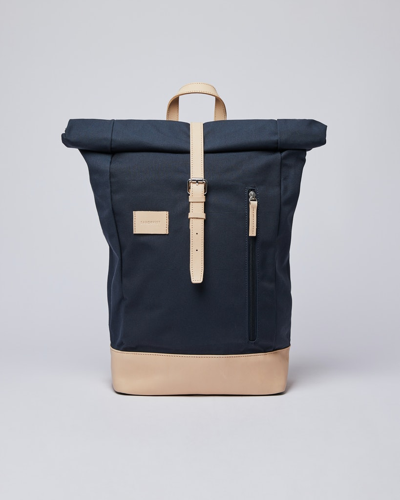 Sandqvist - Backpack - Navy and Beige - DANTE GRAND