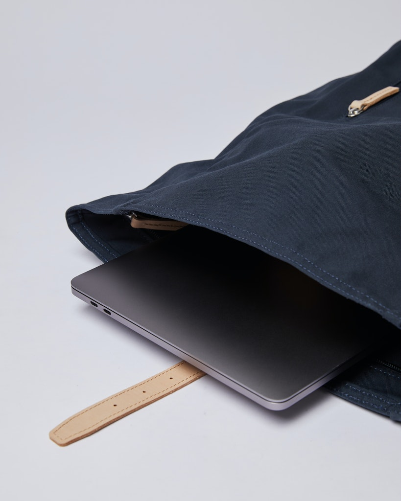 Sandqvist - Backpack - Navy and Beige - DANTE GRAND 3