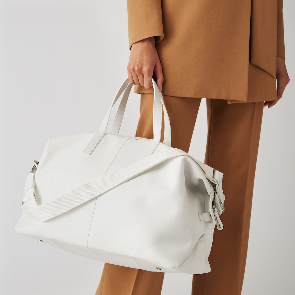 Sandqvist - Weekend Bag - White - HOLLY LEATHER 1