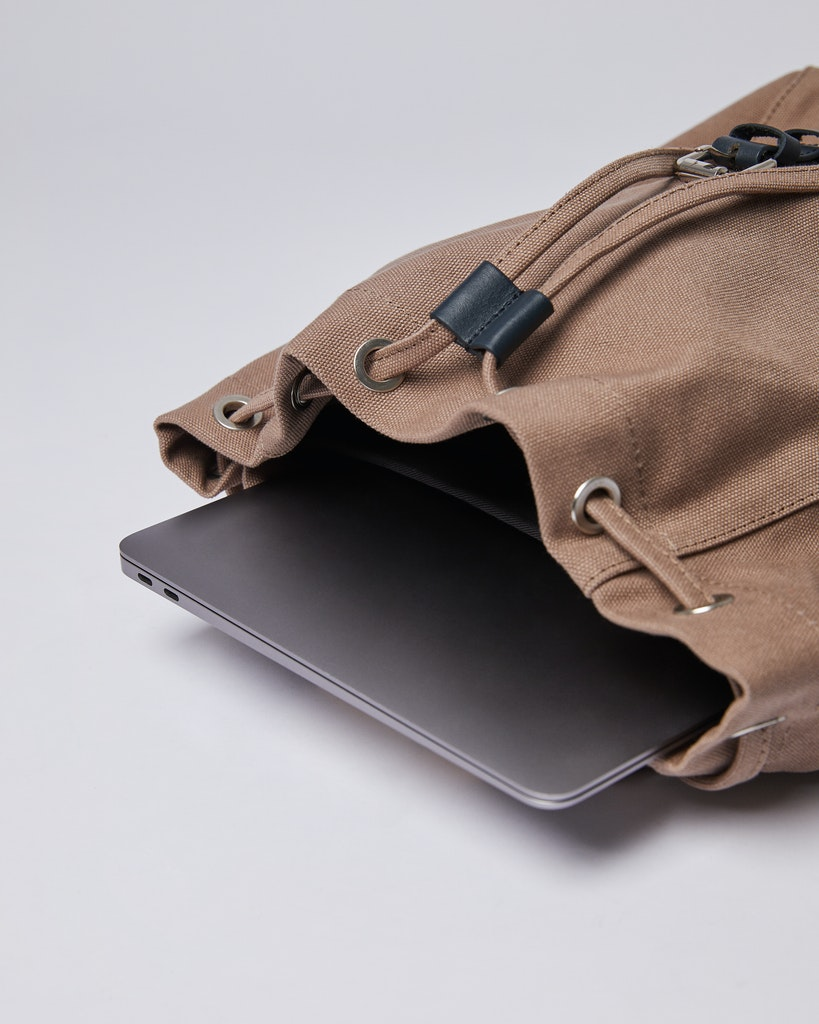 Sandqvist - Backpack - Brown and Navy - ALVA 3