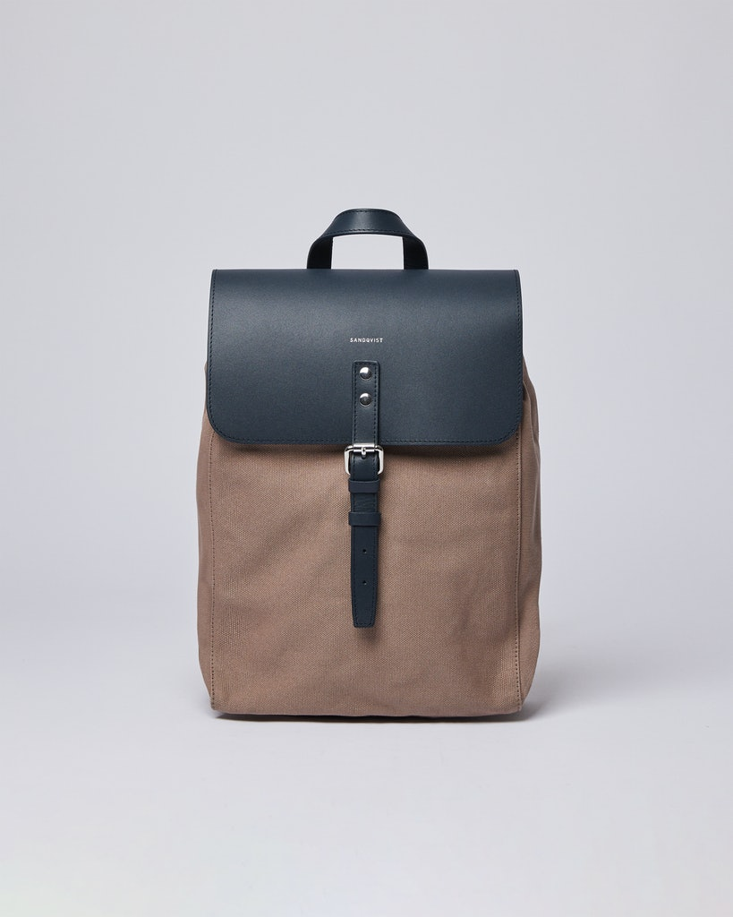 Sandqvist - Backpack - Brown and Navy - ALVA