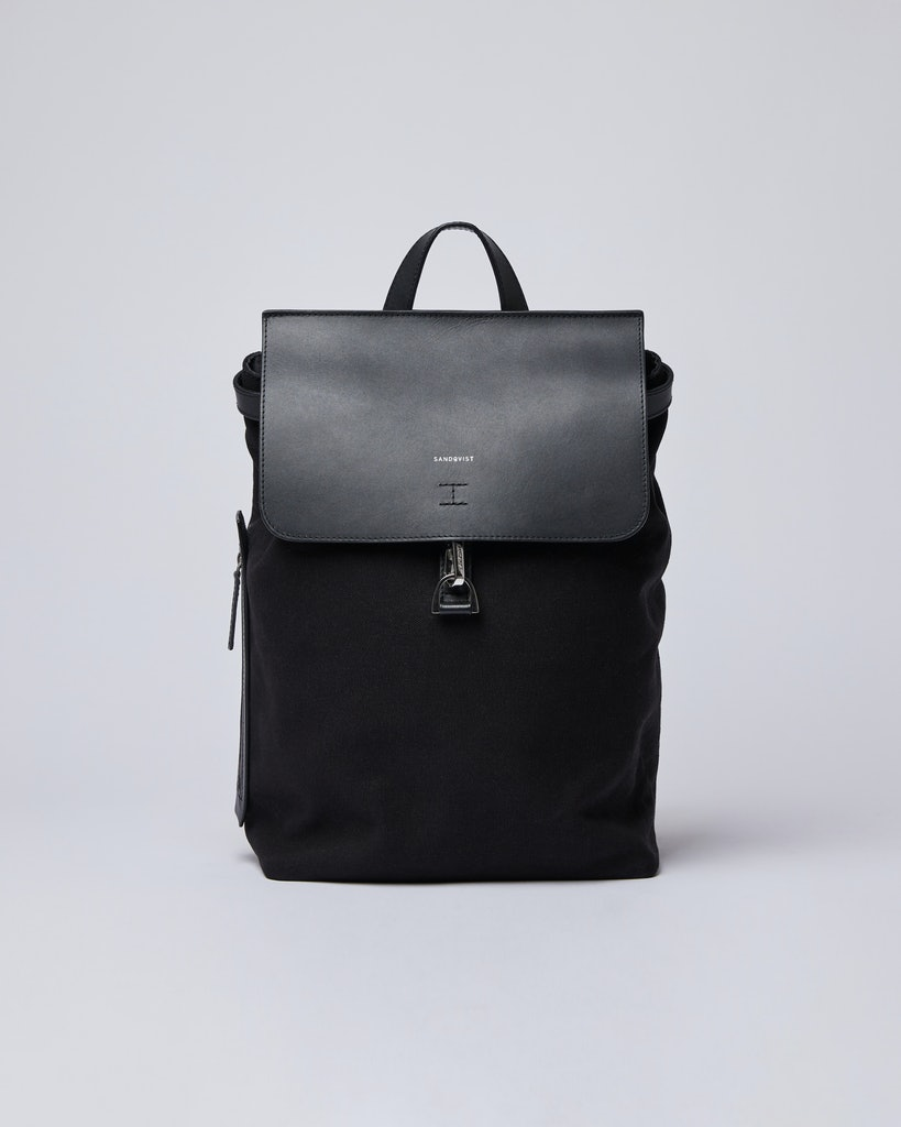 Sandqvist - Backpack - Black - ALVA METAL HOOK