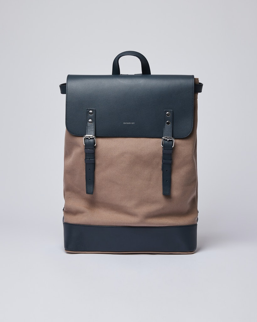 Sandqvist - Backpack - Brown and Navy - HEGE