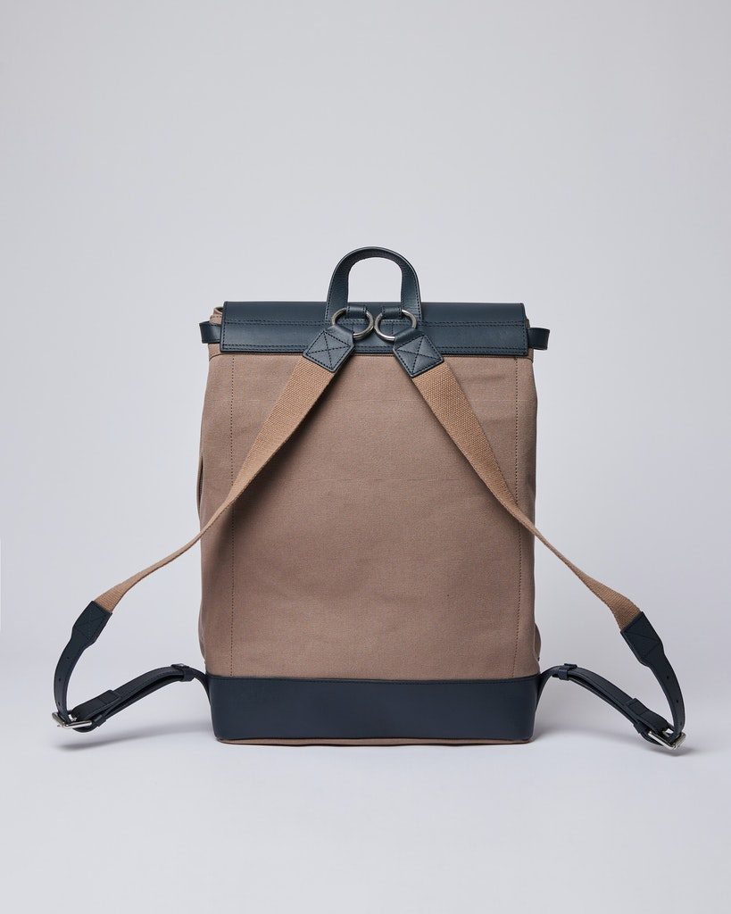 Sandqvist - Backpack - Brown and Navy - HEGE 3