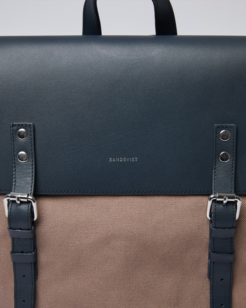 Sandqvist - Backpack - Brown and Navy - HEGE 1