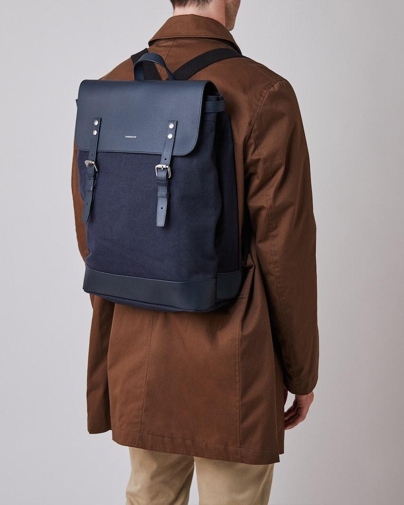 Sandqvist - Backpack - Navy - HEGE 5