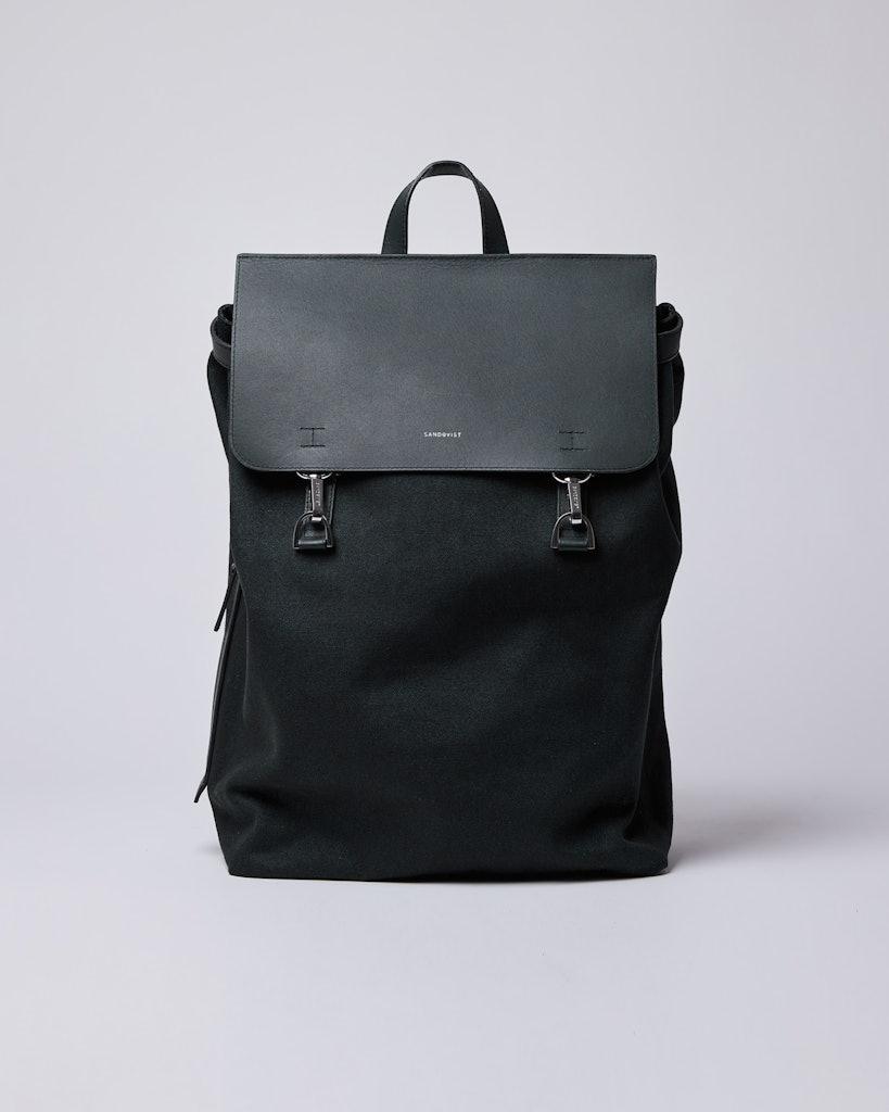 Sandqvist - Backpack - Black - HEGE METAL HOOK