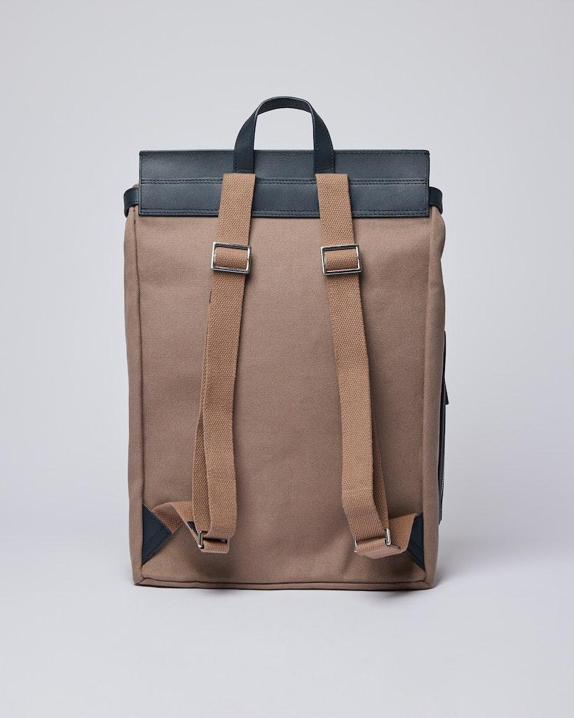 Sandqvist - Backpack - Brown and Navy - HEGE METAL HOOK 3