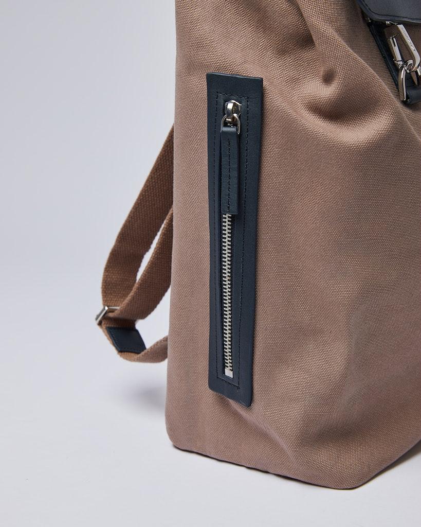 Sandqvist - Backpack - Brown and Navy - HEGE METAL HOOK 4