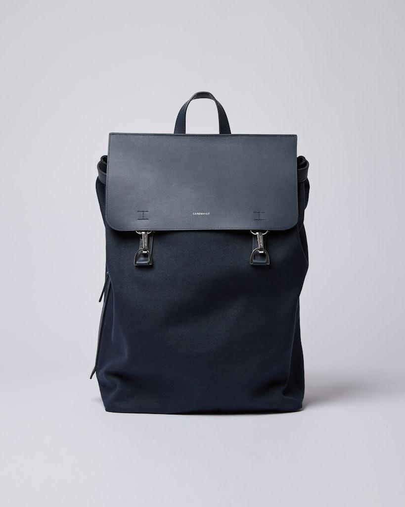 Sandqvist - Backpack - Navy - HEGE METAL HOOK