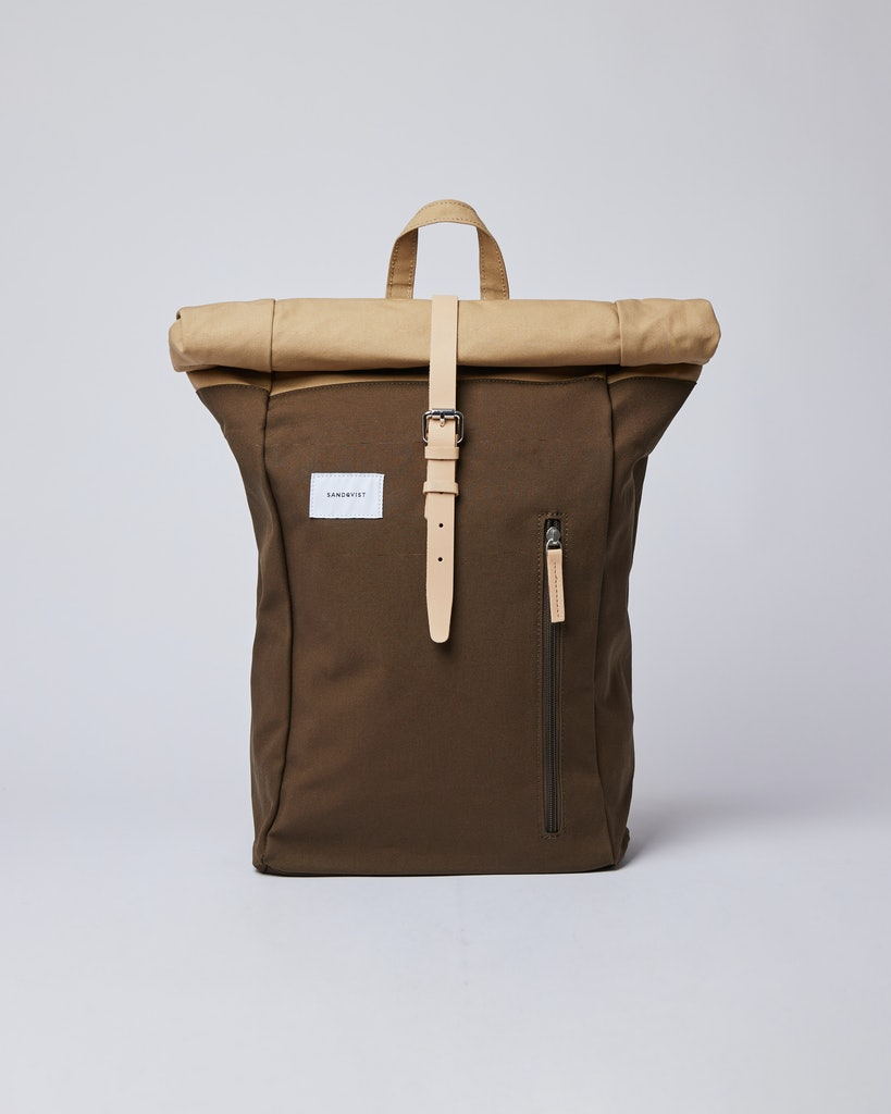 Sandqvist - Backpack - Beige and Green - DANTE