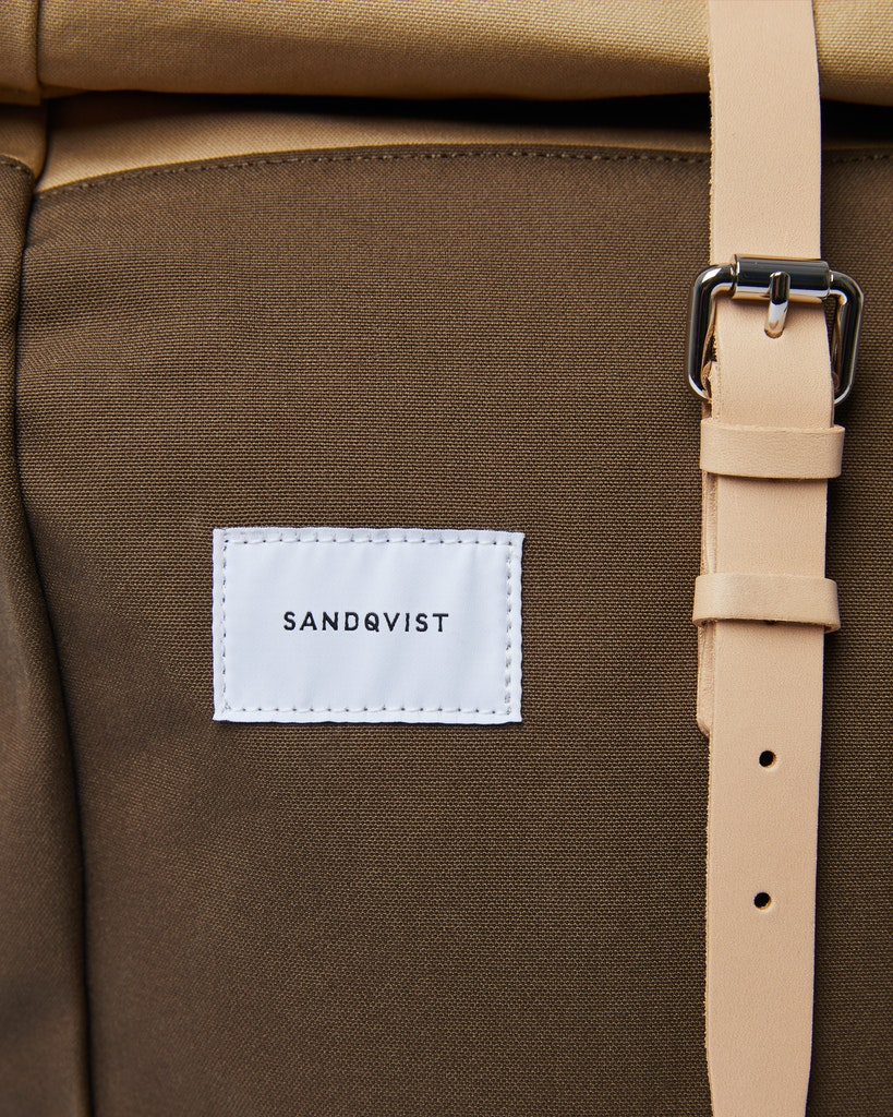 Sandqvist - Backpack - Beige and Green - DANTE 1