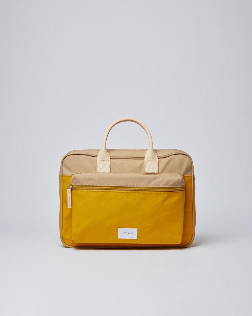 Sandqvist - Briefcase - Beige and Yellow - EMIL