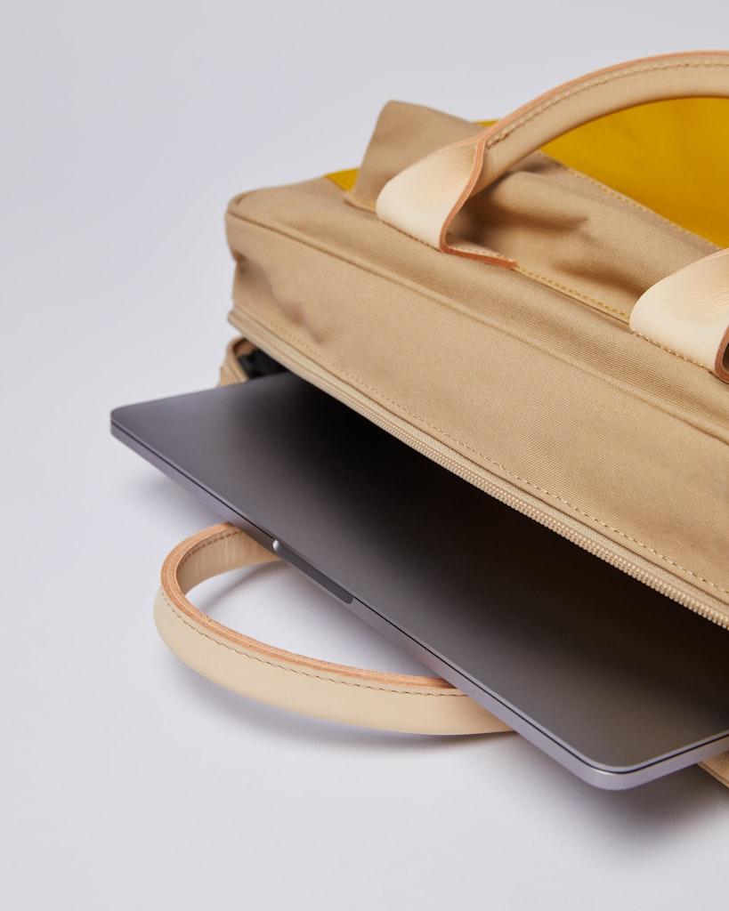 Sandqvist - Briefcase - Beige and Yellow - EMIL 6
