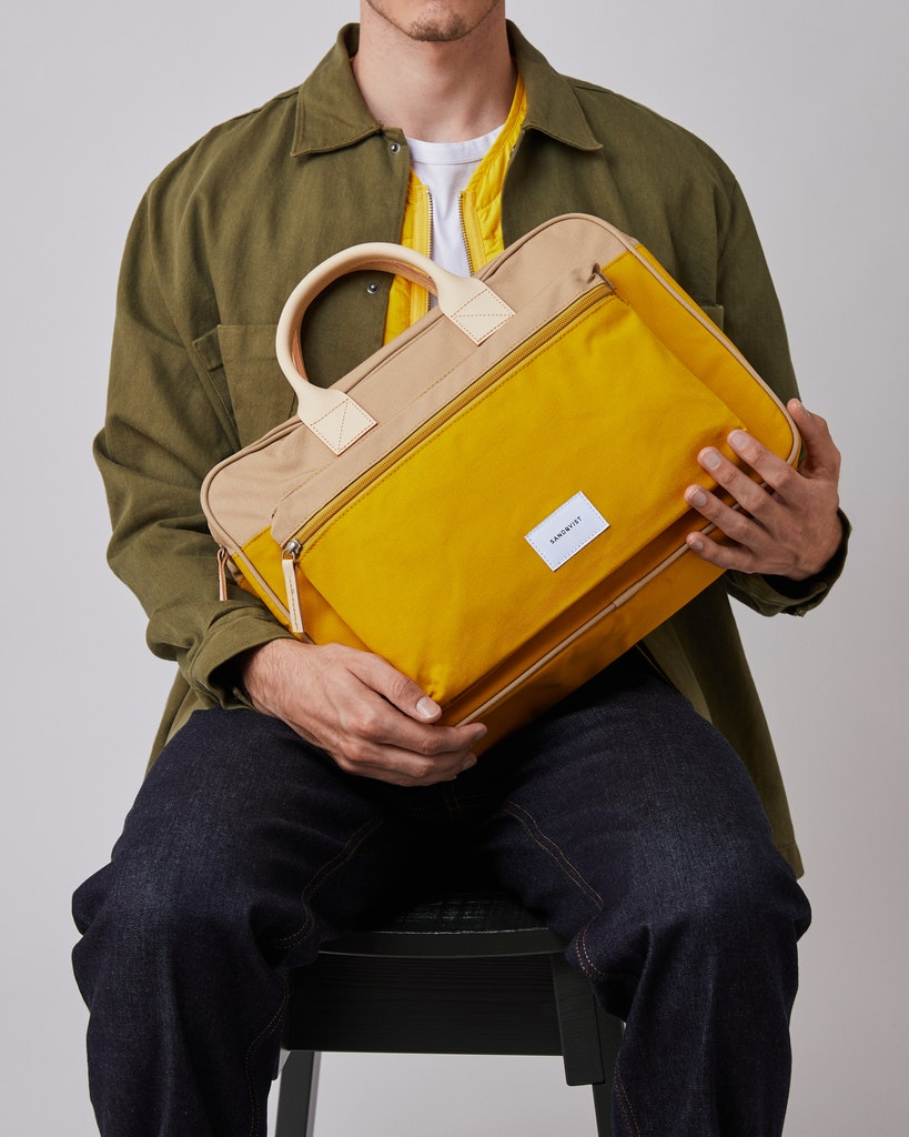 Sandqvist - Briefcase - Beige and Yellow - EMIL 2
