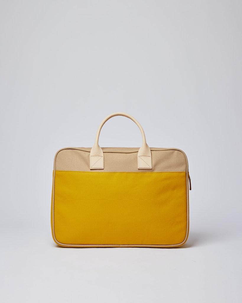 Sandqvist - Briefcase - Beige and Yellow - EMIL 3