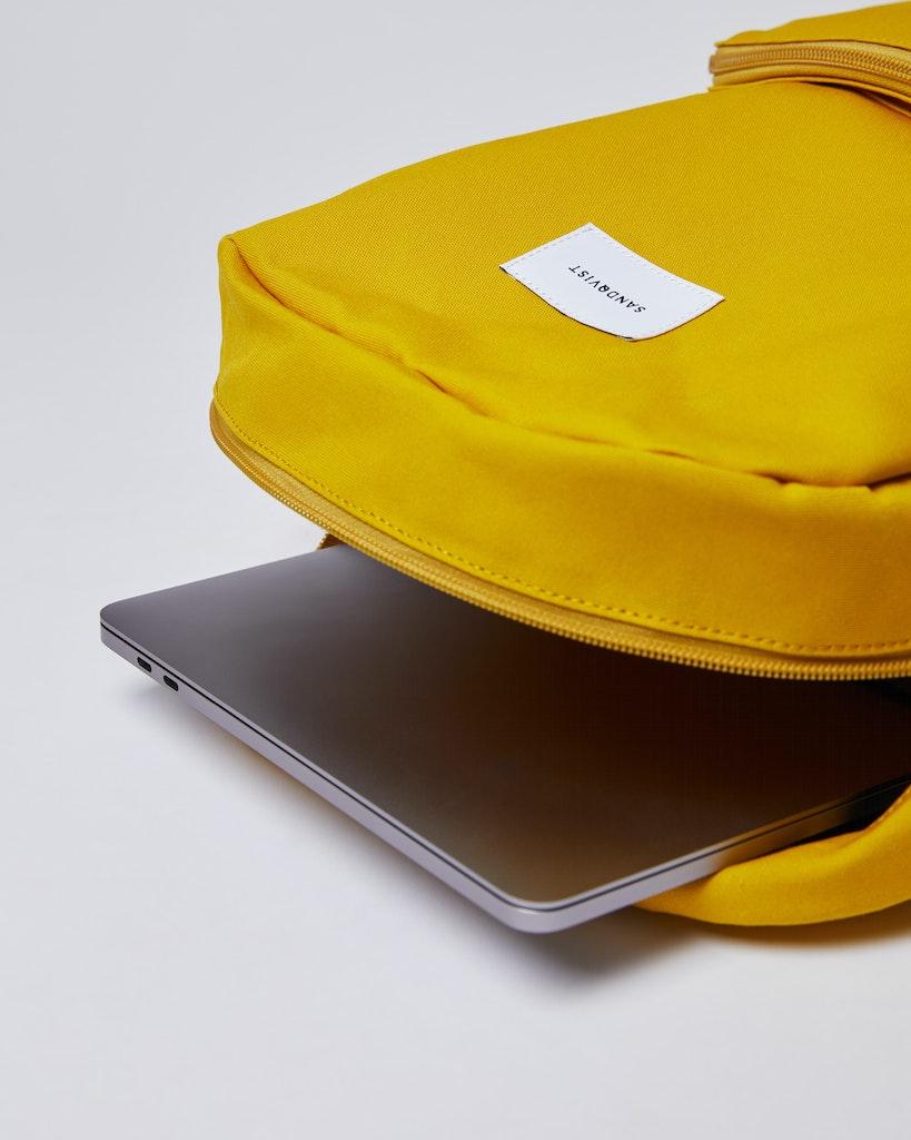 Sandqvist - Backpack - Beige and Yellow - KIM 3