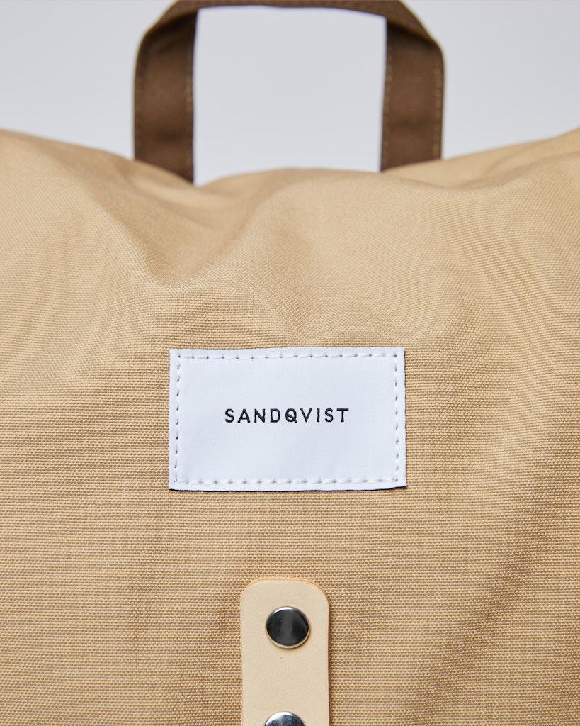 Sandqvist - Ryggsäck - Beige och Grön - ROALD 1