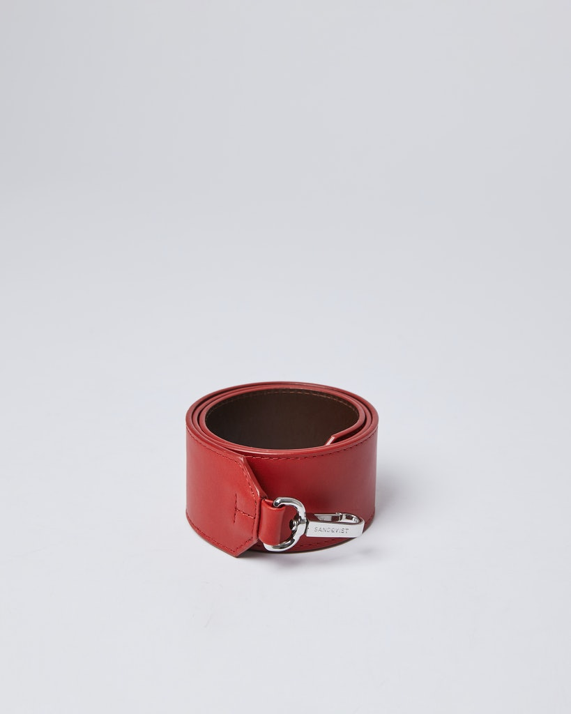 Sandqvist - Shoulder Strap - Red - SHOULDER STRAP LEATHER