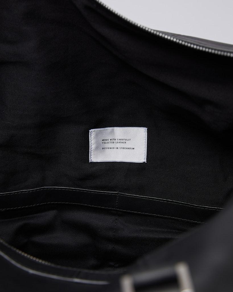 Sandqvist - Weekend Bag - Black - FRANS LEATHER 5