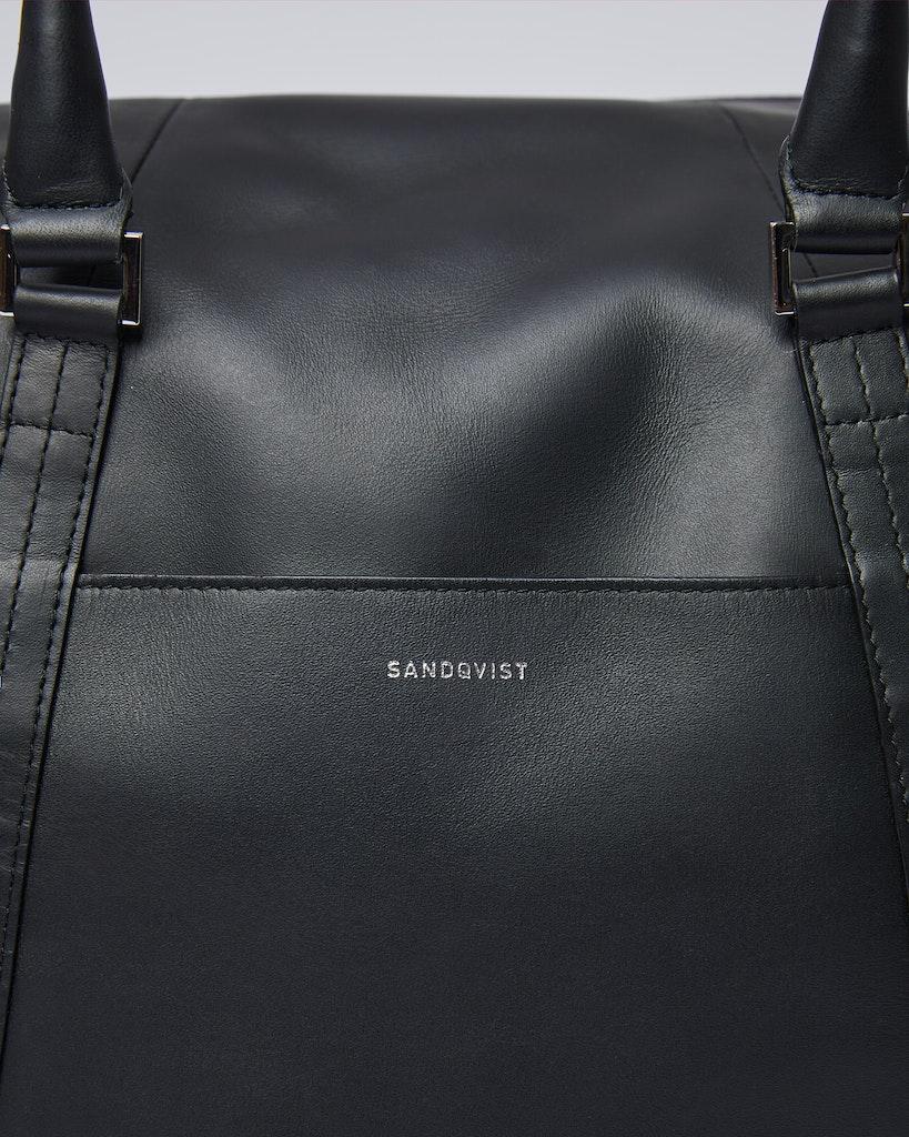Sandqvist - Weekend Bag - Black - FRANS LEATHER 2
