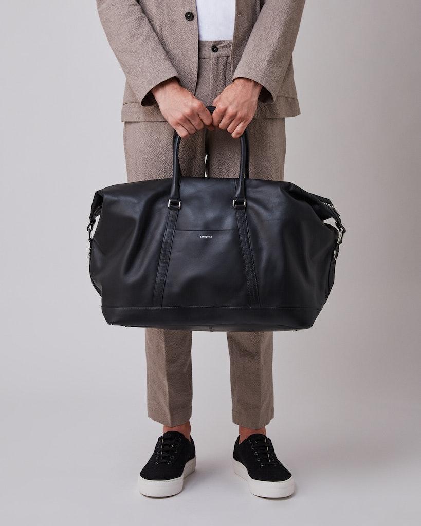 Sandqvist - Weekend Bag - Black - FRANS LEATHER 6