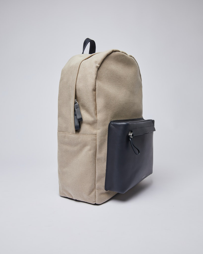 Sandqvist - Backpack - Navy and Beige - INGVAR TWILL 6