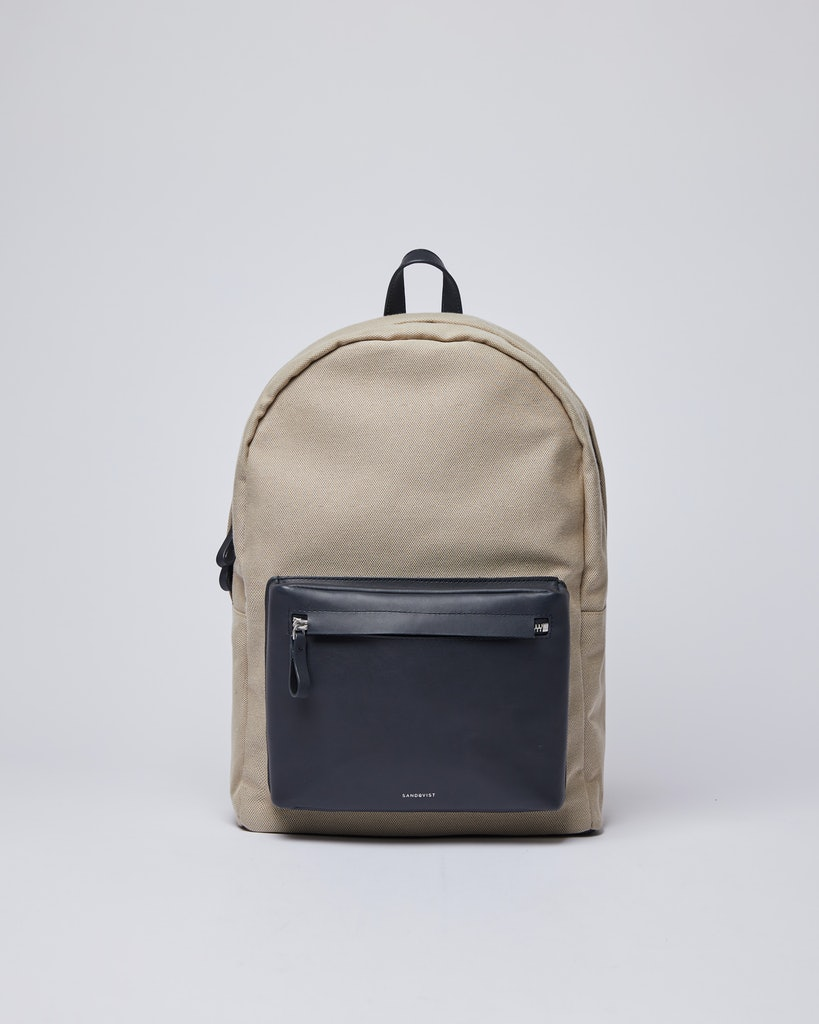 Sandqvist - Backpack - Navy and Beige - INGVAR TWILL