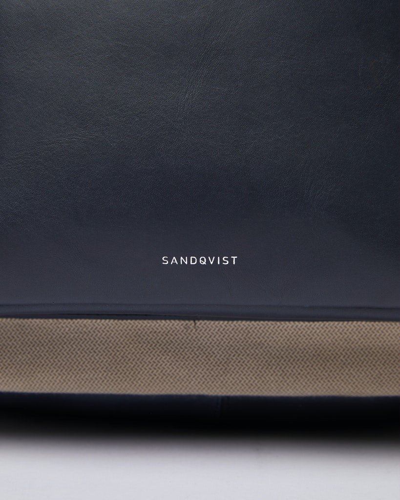 Sandqvist - Backpack - Navy and Beige - INGVAR TWILL 1