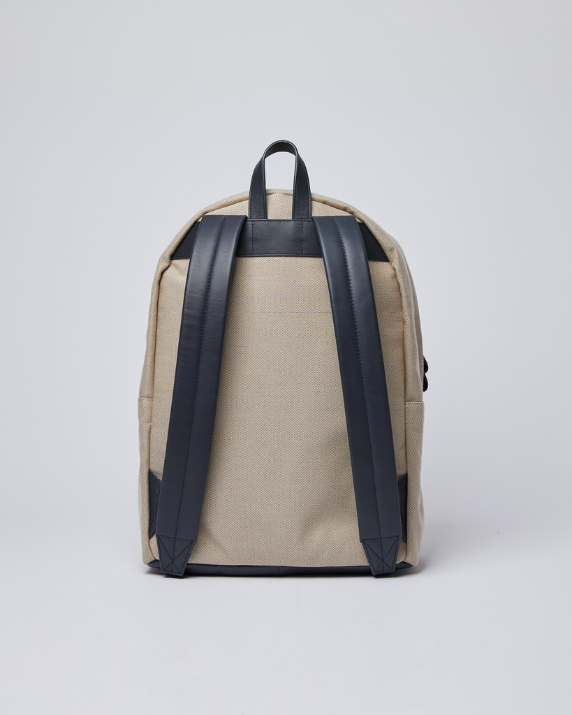 Sandqvist - Backpack - Navy and Beige - INGVAR TWILL 3