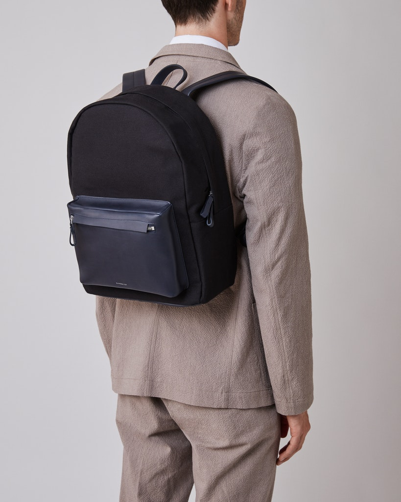 Sandqvist - Backpack - Black - INGVAR TWILL 2