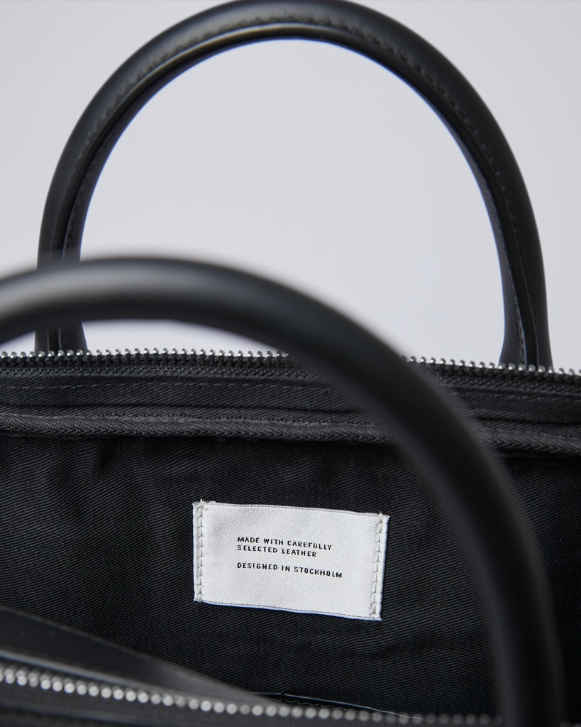 Sandqvist - Briefcase - Black - MELKER LEATHER 5