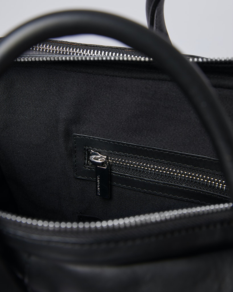Sandqvist - Briefcase - Black - MELKER LEATHER 4
