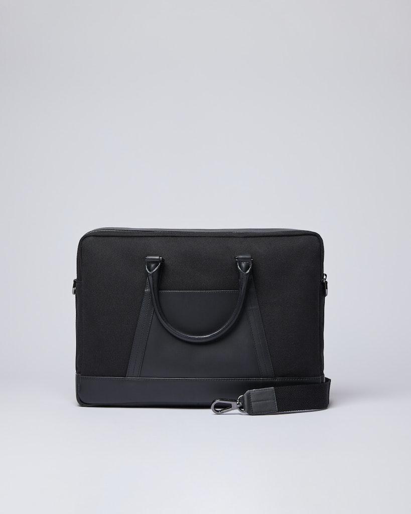 Sandqvist - Briefcase - Black - MELKER TWILL 3