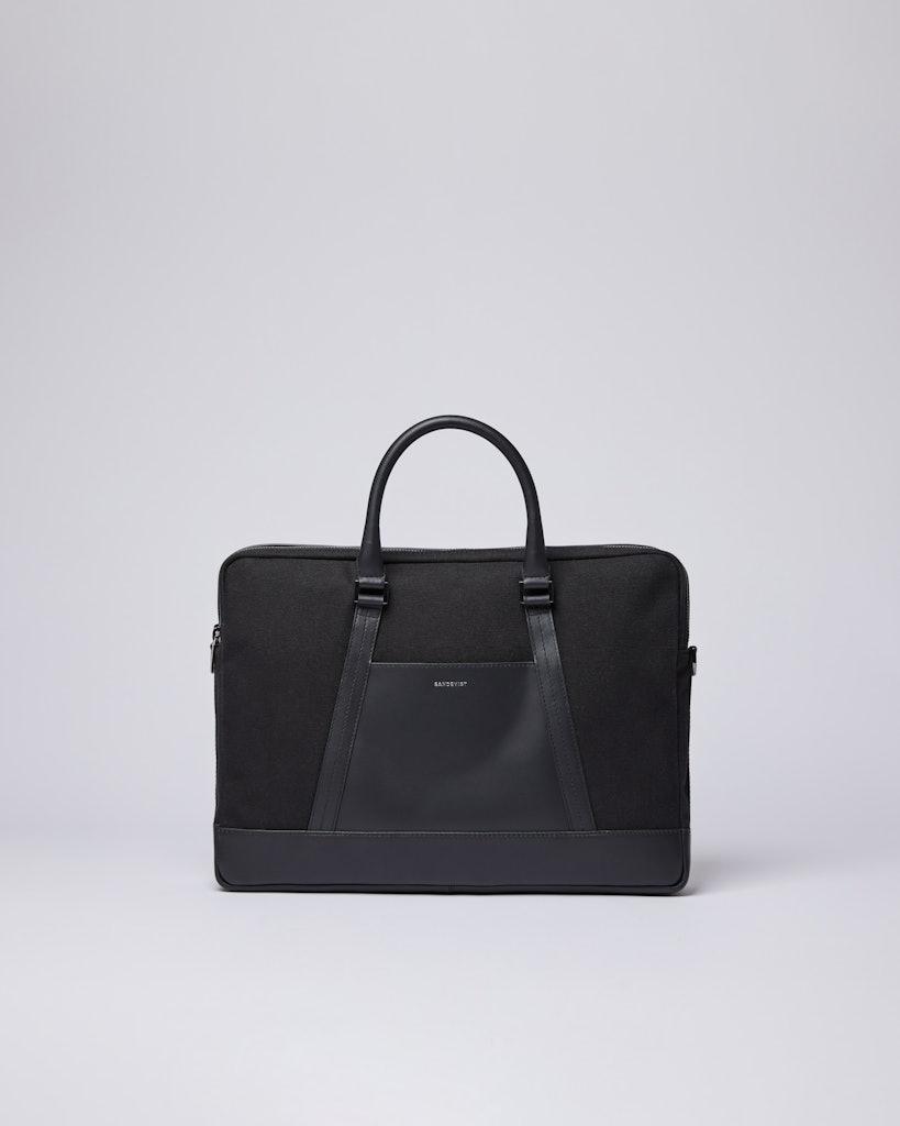 Sandqvist - Briefcase - Black - MELKER TWILL