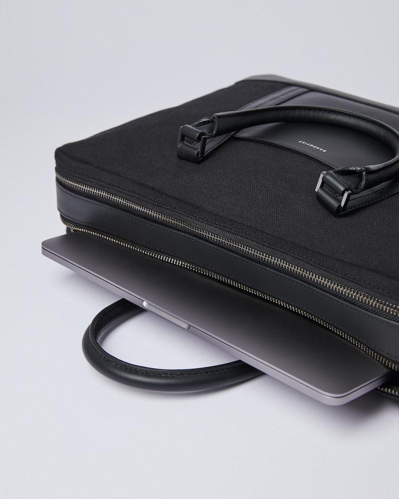Sandqvist - Briefcase - Black - MELKER TWILL 4