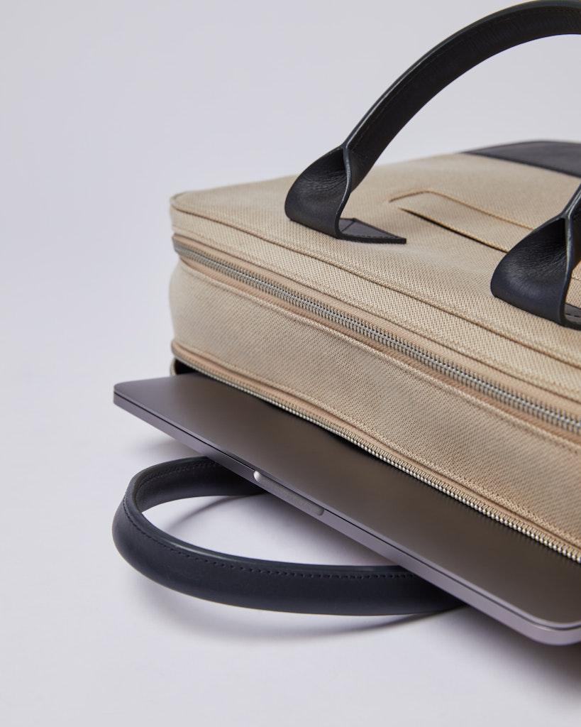 Sandqvist - Briefcase - Navy and Beige - SETH TWILL 6