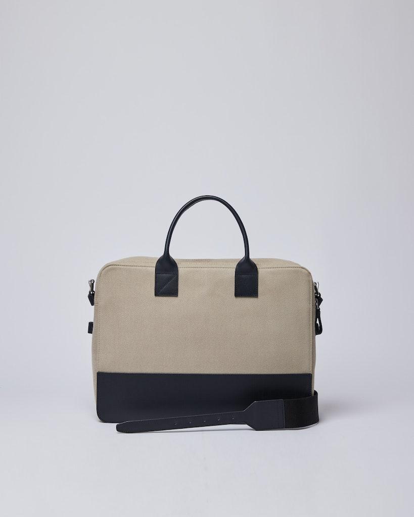 Sandqvist - Briefcase - Navy and Beige - SETH TWILL 3