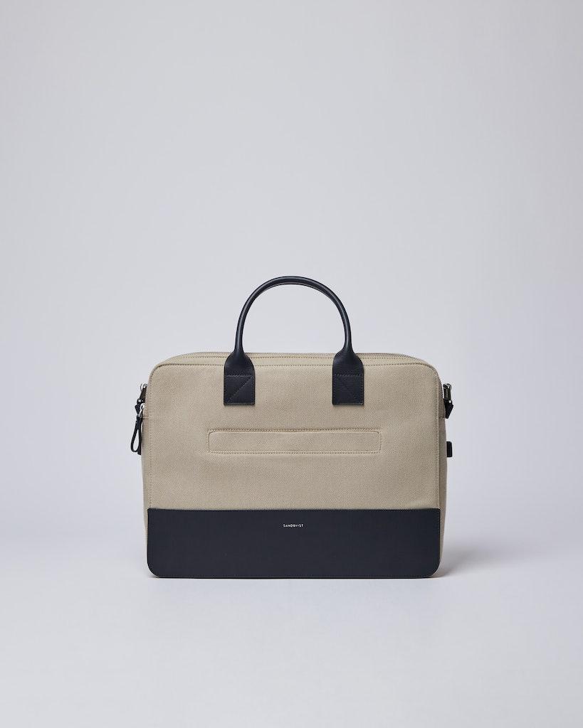 Sandqvist - Briefcase - Navy and Beige - SETH TWILL