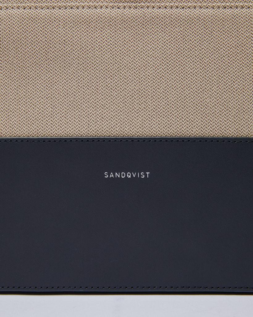 Sandqvist - Portfölj - Blå och Beige - SETH TWILL 1