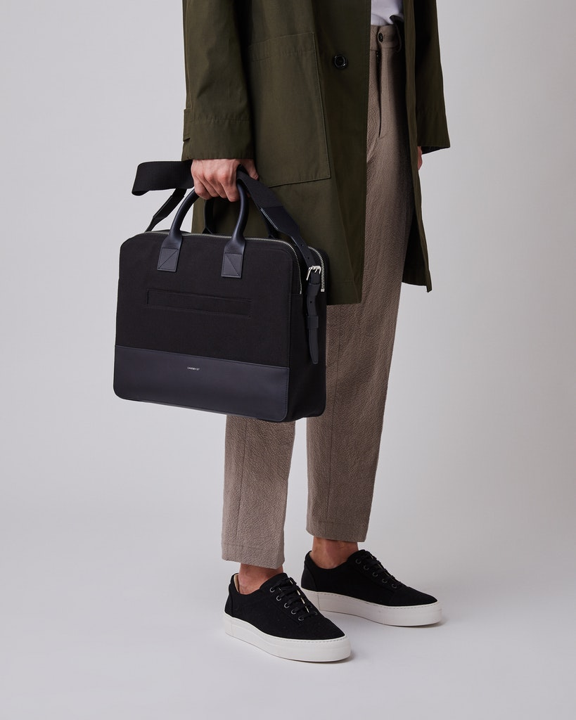 Sandqvist - Briefcase - Black - SETH TWILL 6