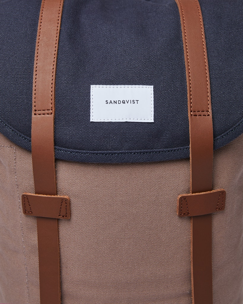 Sandqvist - Backpack - Navy and Brown - STIG 1