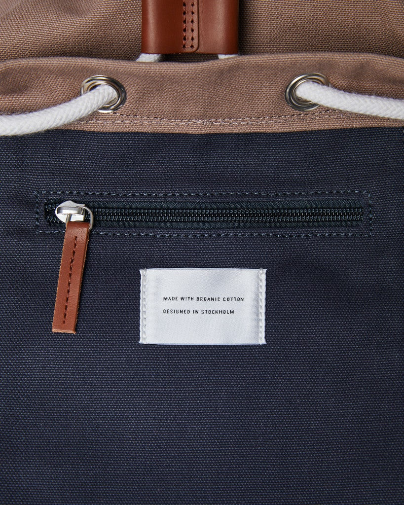 Sandqvist - Backpack - Navy and Brown - STIG 6